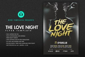 THE LOVE NIGHT Flyer template