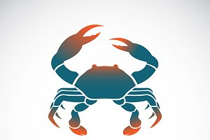 Set of vector crab icons design