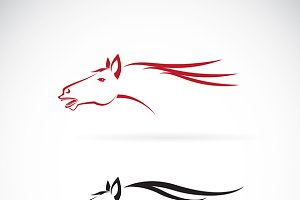 Vector images of horse head design