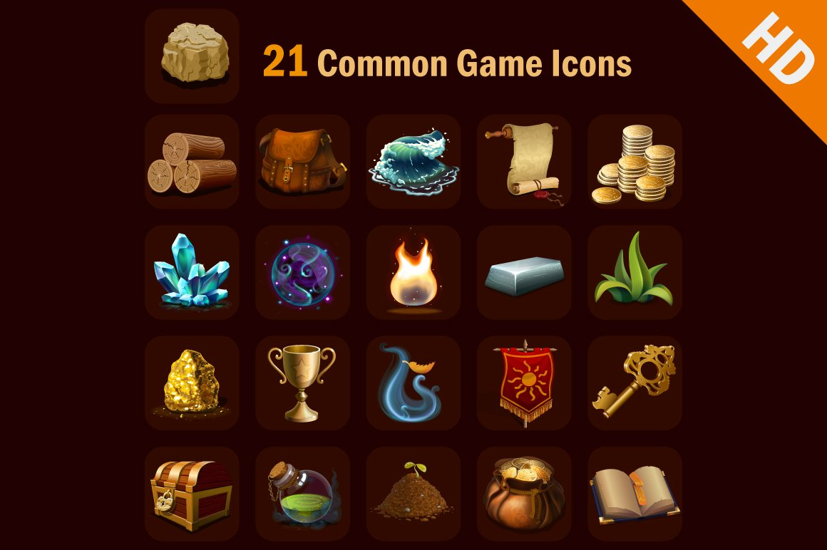 Common Game Icon Pack Hd Icons Creative Market