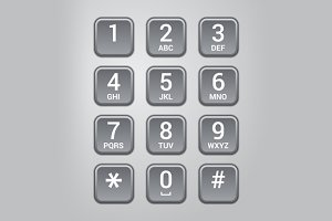 User interface keypad