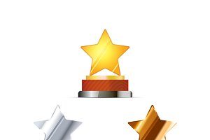 Awards for winners with stars