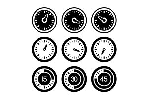 Dial and Timers Icons Set
