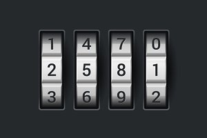 Combination lock number code