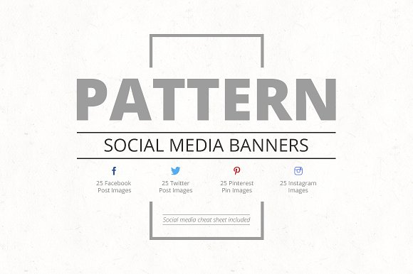 Pattern Social Media Banners