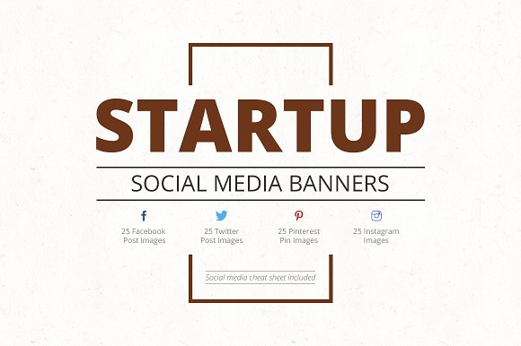 Startup Social Media Banners