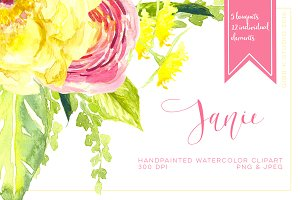 Janie Watercolor Clipart