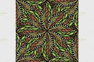 Round mandala seamless pattern.
