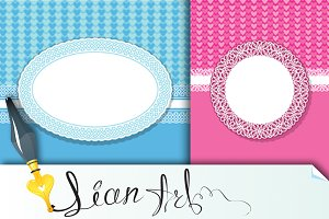Sets of 12 invitation cards