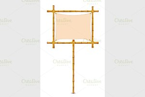 Yellow Bamboo Frame