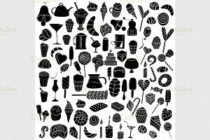 Black Vector doodle elements.