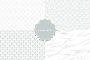 4 seamless white geometric pattern