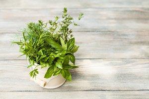 The Fresh herbs
