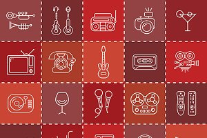 Line Art Vector Icons
