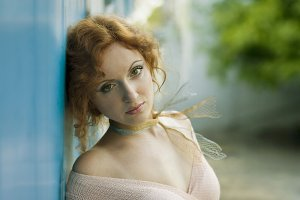 beautiful redhead woman