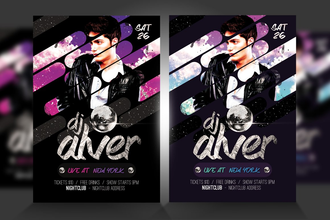 Live DJ Flyer Template PSD V2 ~ Flyer Templates ~ Creative Market