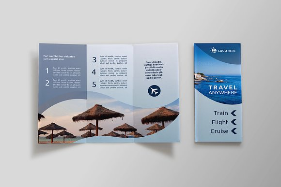 travel tri fold brochure sk brochure templates creative market