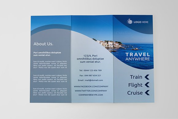 travel tri fold brochure sb brochure templates creative market