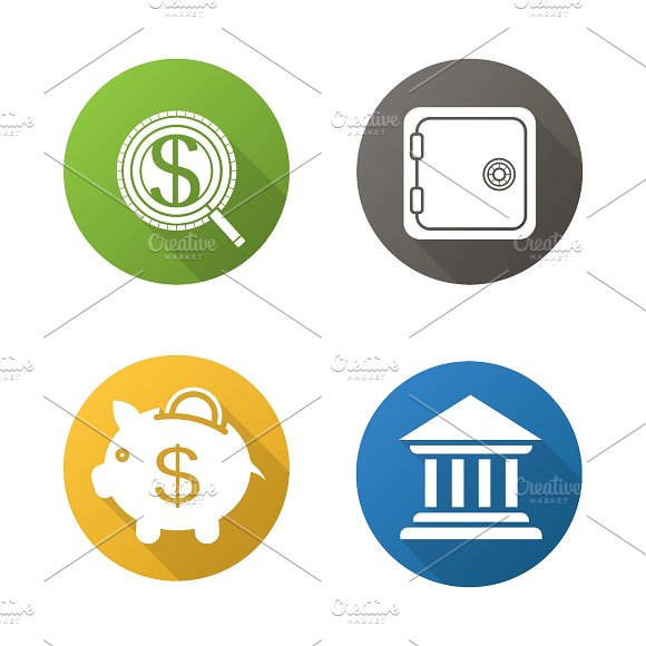 Banking and finance icons. Vector - Graphics