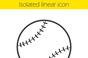 Baseball ball icon. Vector