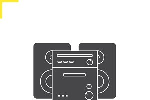 Stereo system icon. Vector
