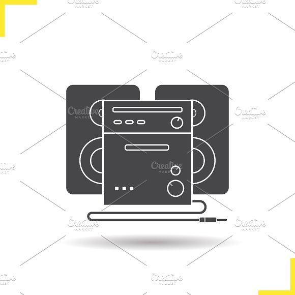 Stereo system icon. Vector - Icons