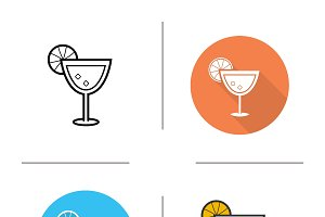 Margarita icons. Vector