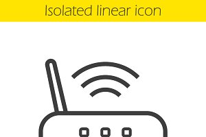 Wi fi router icon. Vector