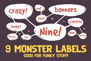 9 Monster Labels