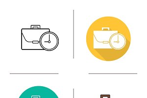 Work time icons. Vector