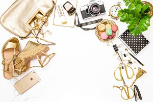 Fashion flat lay for bloggers