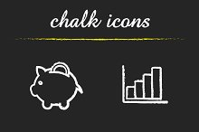 Banking and finance icons. Vector