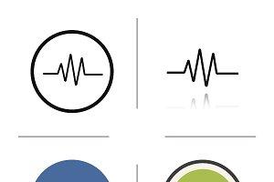 Cardiogram icons. Vector