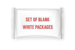 Set of blank white packages