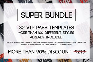 Super Bundle-Vip Pass Cards -90% off