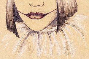 Mime sad clown craft sketch art
