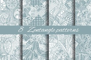 8 Zentangle patterns