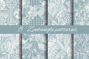 8 Zentangle patterns