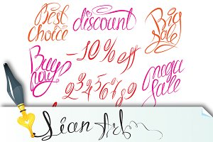 calligraphic text for fashion or sal