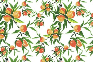 Peach pattern and card design