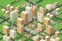 Big construction industrial city