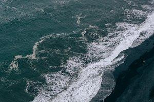 Waves crashing on Black Sand Beach