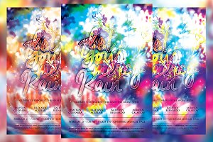 Let Your Mercy Rain Church Flyer