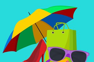 fashion accessories, vector