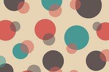 retro polka dot pattern