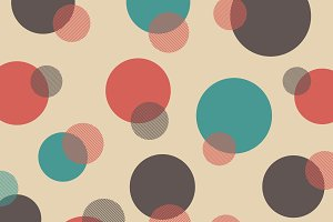 retro polka dot pattern