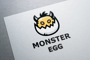 Monster Egg Logo Template