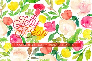 Jelly Bean - Watercolor Floral