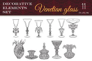Decorative Venetian Glass Set