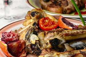 Beef entrecote grilled vegetables
